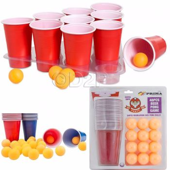 48pc ULTIMATE BOMBED BEER PONG DRINKING GAME