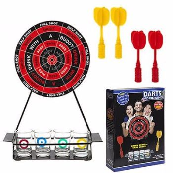 FUN MAGNETIC DARTS DRINKING SHOTS GLASS GAME