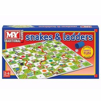 SNAKES AND LADDERS TRADITIONAL CHILDRENS BOARD GAME