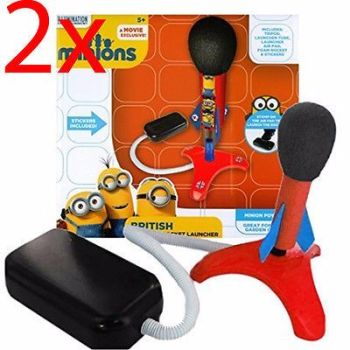 2 X DESPICABLE ME MINIONS STOMP ROCKET LAUNCHER