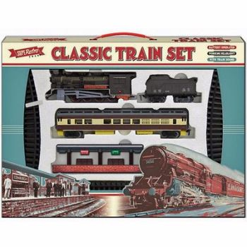 TRAIN TRACK SET RETRO BATTERY OPERATED TOY