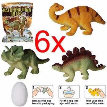 6 X HATCHING DINOSAUR EGG