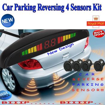 New Car Parking Reversing Sensor 4 Sensors LED Display Kit - Was £39