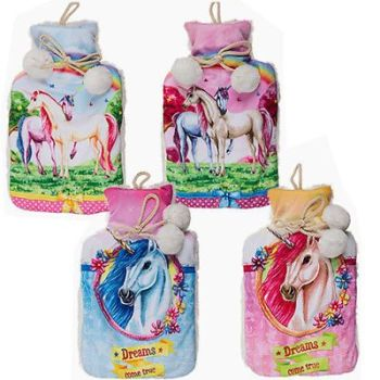 UNICORN 2L LARGE RUBBER HOT WATER BOTTLE