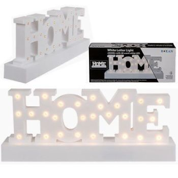 30CM WHITE LIGHT UP HOME 28 LED SIGN PLAQUE