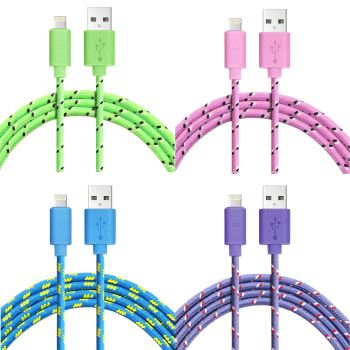 Fast Charger Strong Braided Apple iPhone 6 6s 7 iPad USB Data Cable-1M