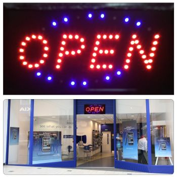 Super Bright Flashing LED Neon Shop Door Window Display