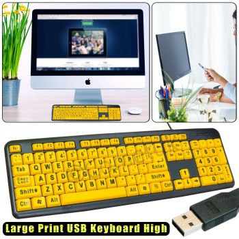 LARGE-PRINT-USB-Wired-Keyboard-Big-Letter-Numeric-Keypad