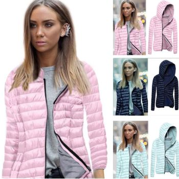 Padded Hooded Collar Short Ladies Zipper WAS - £29
