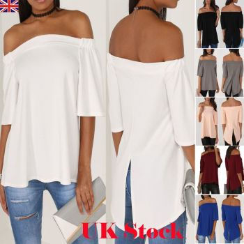 Off The Shoulder Blouse Loose Casual