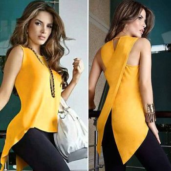 Summer Sleeveless Casual Blouse Long-SIZE-6-18