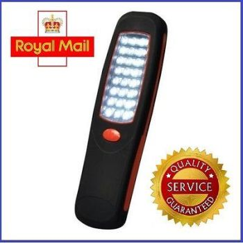 24 LED Inspection Cordless Magnetic Lamp Torch