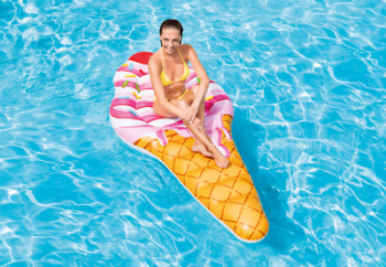 "88"" Intex Inflatable Ice Cream Cone Mat Pool Float Lounger"