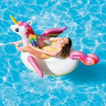 "79"" Giant Inflatable Unicorn Water-Float"