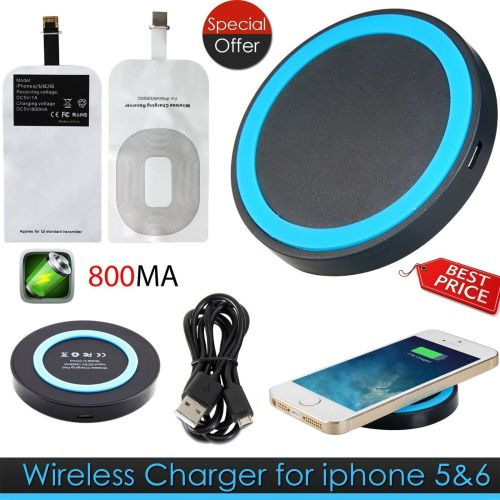 Wireless Power Charging Charger Pad Receiver For Apple iPhone 5/5S/6/6+