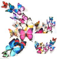 12 x-3D-Butterfly-Sticker-Art-Design-Vivid-Decal-Wall-Stickers