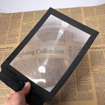 A4 Full Page Magnifier Sheet LARGE Magnifying Glass Reading Aid