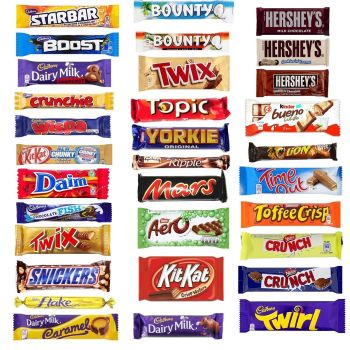 20 x MULTIPACK Chocolate Lovers Assorted Chocolate Bar
