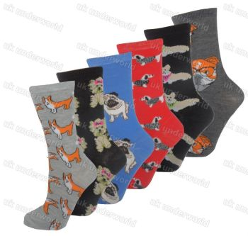 6-Pairs-Novelty-Socks-Adults-4-7-DOGS