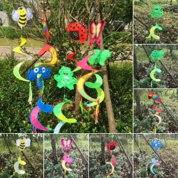 Animal Spiral Windmill Colorful Wind Spinner Lawn Garden