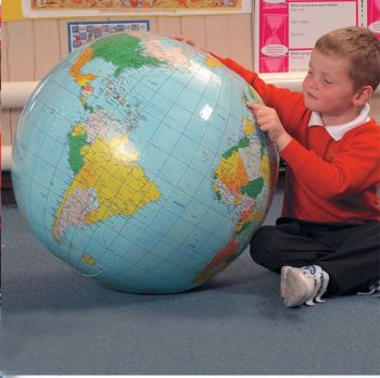 40CM Inflatable World Globe Teach Education Geography Toy