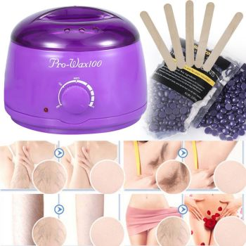Complete Waxing Kit Heater Wax Pot Hair Removal