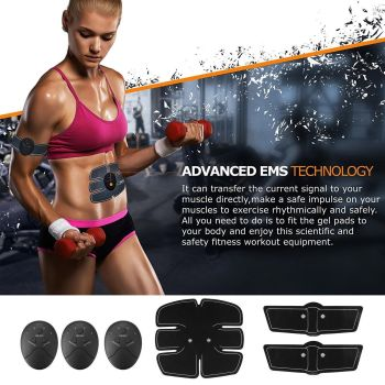 3 In 1 Smart EMS Fitness Belt Abs Muscle Toning Trainer