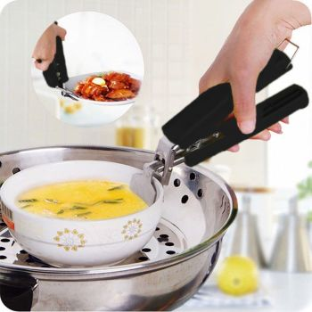 Stainless Steel Anti Scald Kitchen Tools Grip Bowl Clip