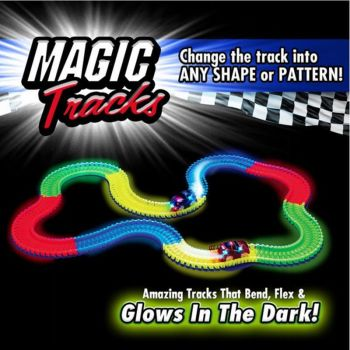 MAGIC TRACK 220 Glow in the Dark LED LIGHT UP RACE CAR