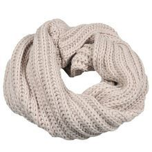 KNITTED CIRCLE WOOL SCARVES UNISEX