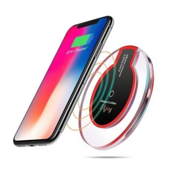 Wireless Phone Charger Pad Ultra-thin QI wireless Phone Charging Stand