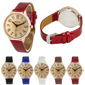 Womens Ladies Watches Faux Leather Analog Quartz Casual Wrist Watch