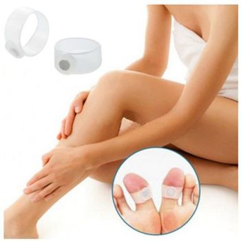 4pcs/pair Magnetic Toe Rings Therapy Slimming