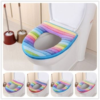 Toilet Seat Washable Soft Warmer Mat Cover Pad Cushion