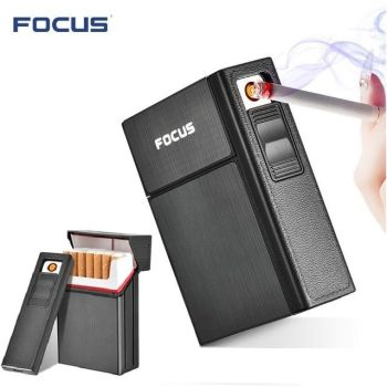 Cigarette Holder Box with Removable USB Electronic Lighter