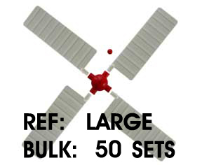 Large Windmill Blades - Bulk 50 Sets - International. 12