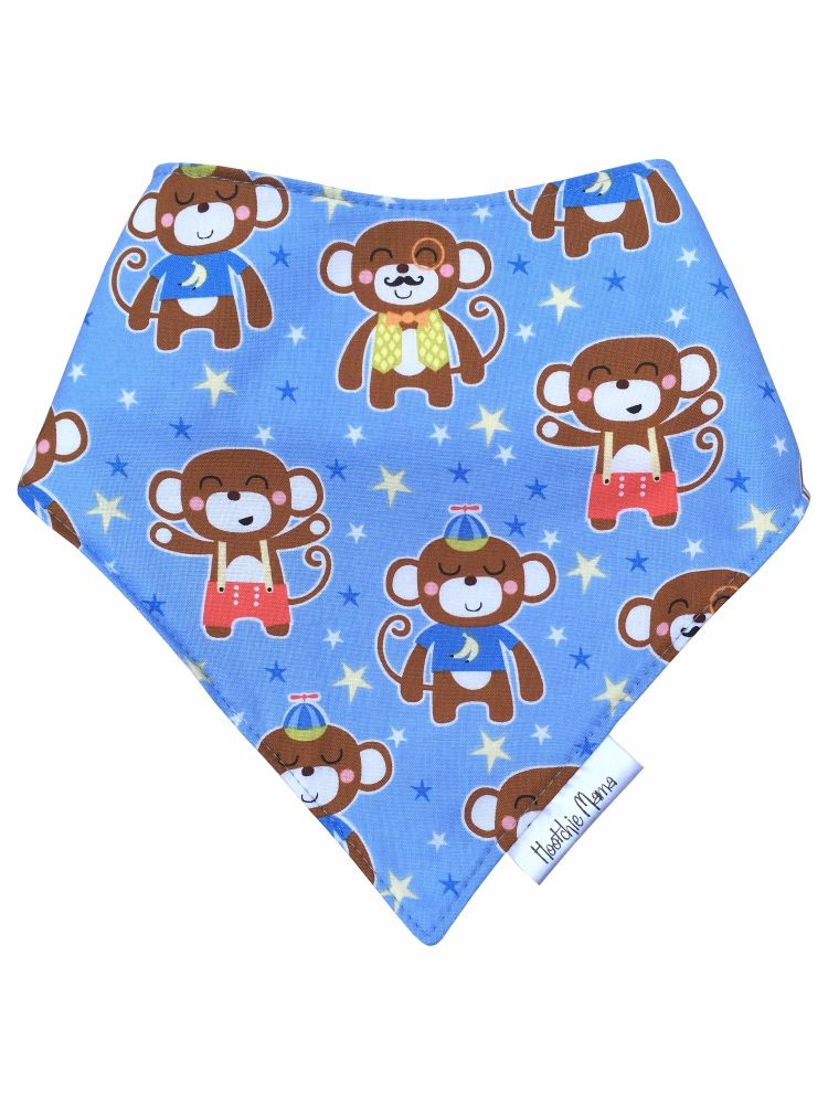 Blue Monkeys Bandana Dribble Bib