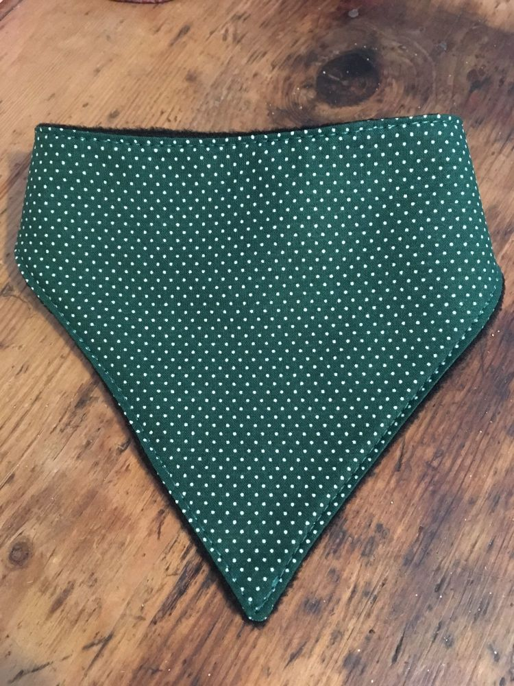 Large Green Polka Dot Dog Bandana