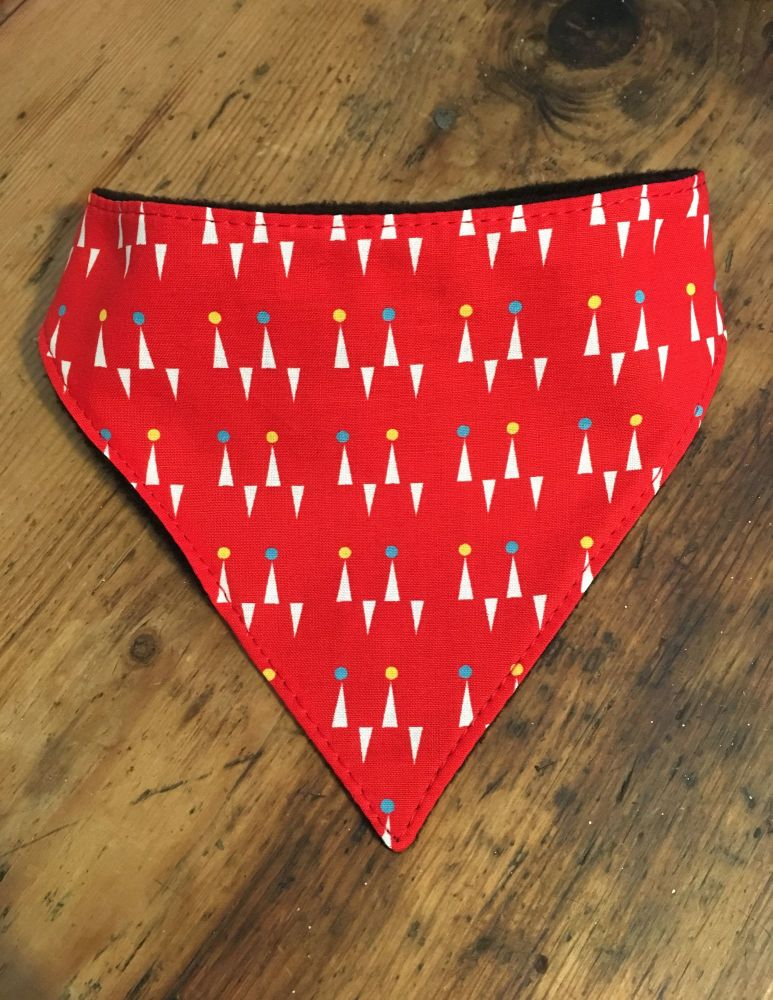Large Red Pins Dog Bandana