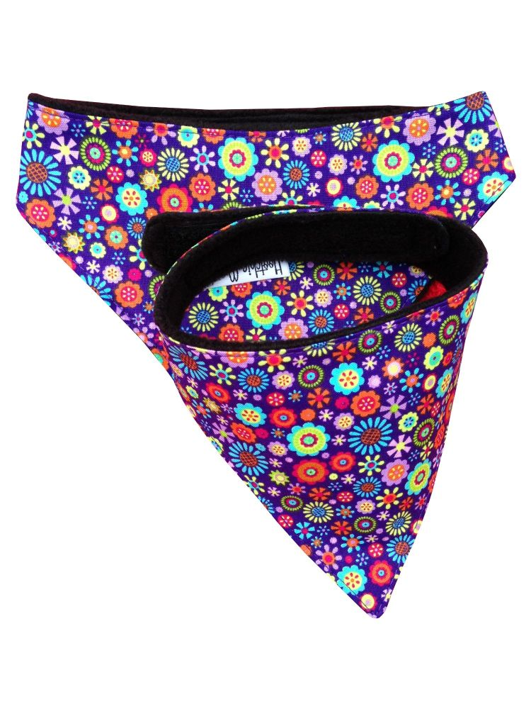 Large Purple Flowers Dog Bandana