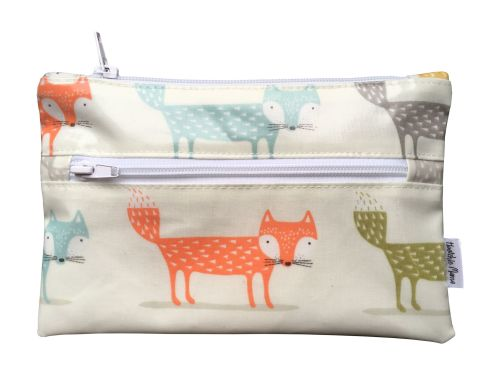 Orange Foxes Pencil Case