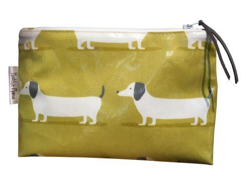 Ochre Hound Dog Cosmetic Bag