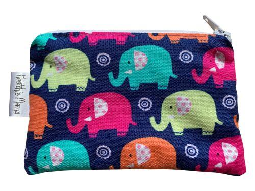 Blue & Pink Elephants Mini Purse