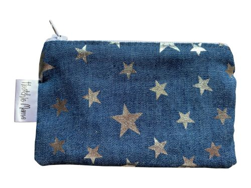 Denim with Silver Stars Mini Purse