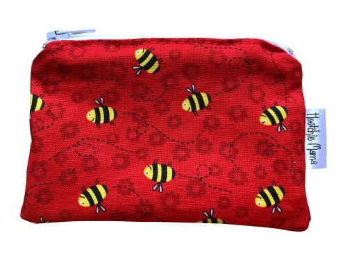 Red Bees Mini Purse