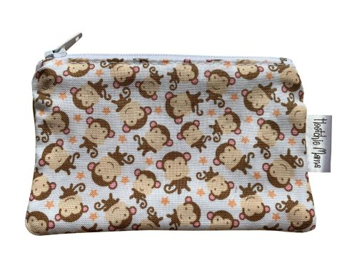 Beige Monkey Mini Purse