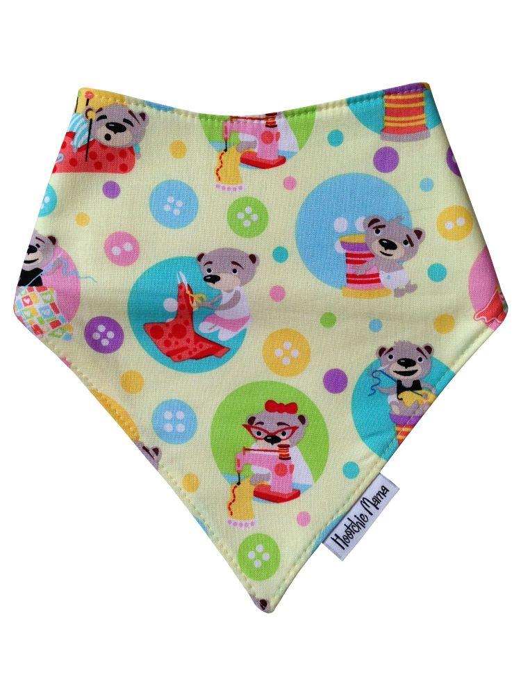Sewing Bears Bandana Dribble Bib