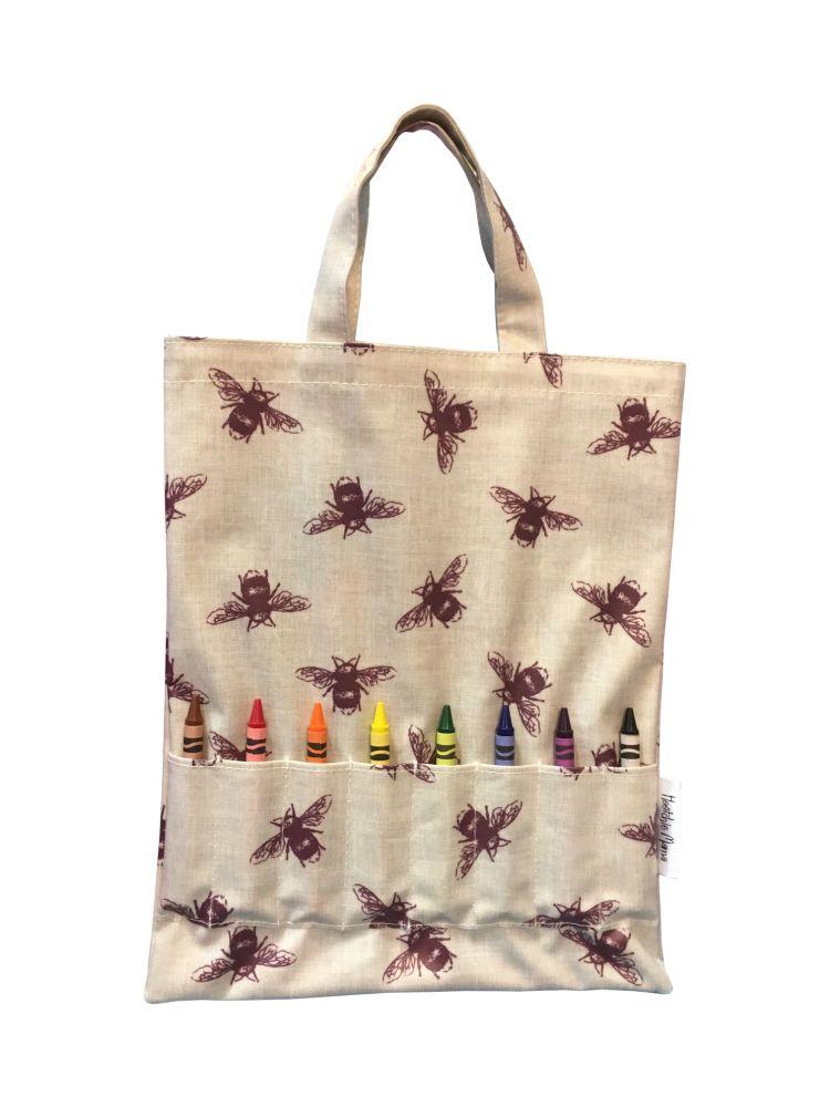 Bees Crayon Bag