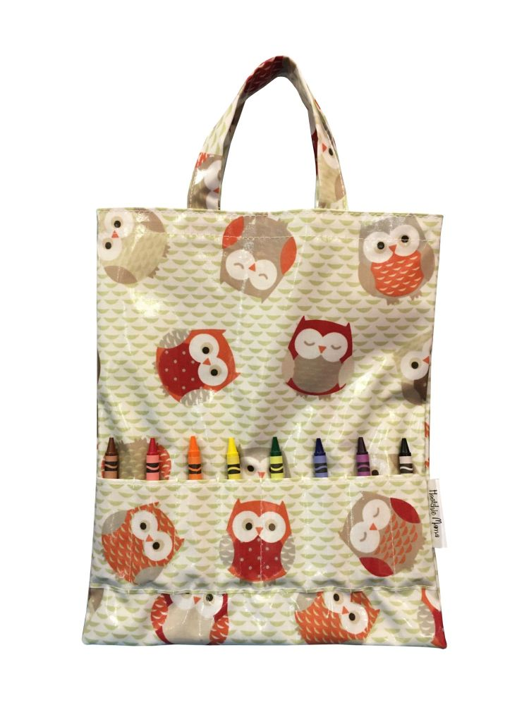 Brown Owls Crayon Bag