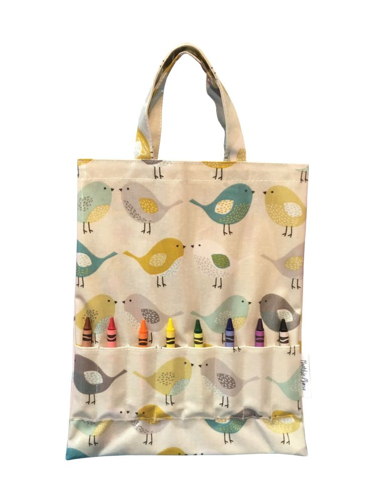 Scandi Birds Crayon Bag